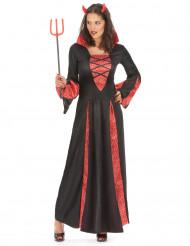 Naisten paholaisen pitkä mekko Halloweenjuhliin