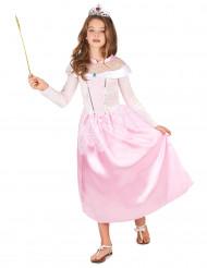 Lasten vaaleanpunainen prinsessa-asu