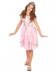 Hurmaava juhlamekko - Lasten vaaleanpunainen prinsessa-asu