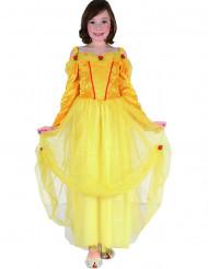Keltainen prinsessamekko lapsille