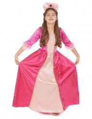 Linnanjuhlia odotelleessa - Lasten vaaleanpunainen prinsessa-asu