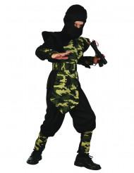 Maastokuvioinen ninja-asu lapsille