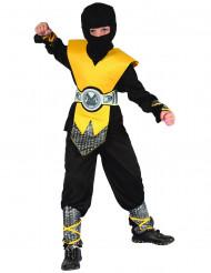 Keltainen ninja-asu lapsille