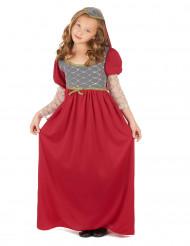 Punainen linnanneidon mekko lapsille
