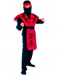Musta lohikäärme - Puna-musta ninjan naamiaisasu lapselle