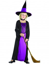 Violetti pitkä noita-asu lapsille