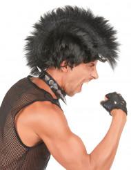 Mohawk - Musta punk peruukki aikuisille