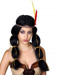 Naisten peruukki Intiaani