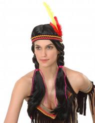 Intiaani leteillä - Peruukki aikuisille temajuhliin