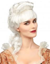 Aatelisen hahmon valkoinen peruukki naisille