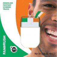 Vihreä, oranssi ja valkoinen meikkiväri