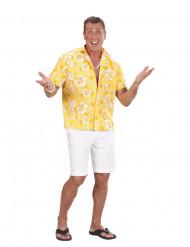 Keltainen havaijityylinen paita miehelle