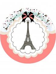 Eiffel-torni-pariisilaiset pahvilautaset 23 cm 8 kpl