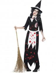 Noitazombin naamiaisasu naiselle halloweeniksi