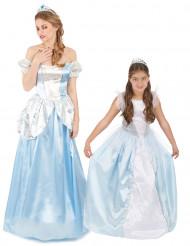 Siniset prinsessat- pariasu ädille ja tyttärelle