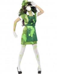 Zombie/ydintutkijan naamiaisasu naiselle halloween
