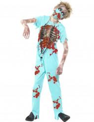 Lääkärizombien naamiaisasu lapselle halloweeniin