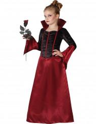 Musta-punainen vampyyrimekko tytölle