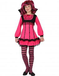 Vaaleanpunainen vampyyrin naamiaisasu naiselle