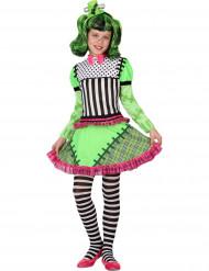 Vihreän monsterin halloween- naamiaisasu tytölle