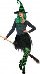Naisten vihreähämäkinseittinoita Halloween-asu