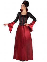 Musta-punainen naisten Halloween vampyyri-asu