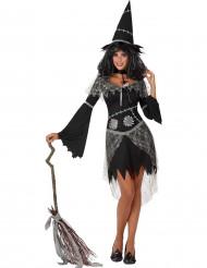 Naisten Halloween mustanharmaa Noita-asu