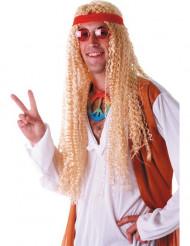 Pitkä vaalea hippiperuukki aikuisille