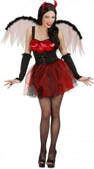 Seksikäs punainen naisten Halloween paholaisasu