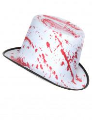 Valkoinen hattu veritahroilla aikuisille