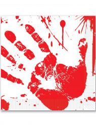 Verisillä kädenjäljillä koristellut Halloween-lautasliinat 33 x 33 cm - 16 kpl