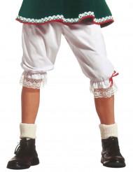 Pitkät valkoiset alushousut aikuisille