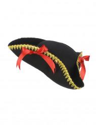 Naisten kolmikulmainen hattu rusettikoristeilla