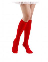 Aikuisten pitkät punaiset sukat 53 cm