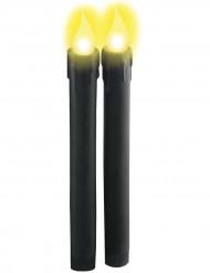 Paristokäyttöiset mustat kynttilät 22 cm - 2 kpl