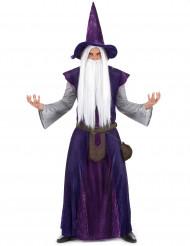 Aikuisten violetti velho-asu