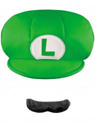 Lasten lipallinen hattu ja viikset - Luigi - Super Mario Bros. ™