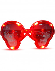Aikuisten punaiset pääkallolasit valotoiminnolla
