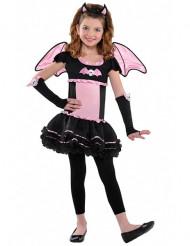 Vaaleanpunainen lepakon naamiaisasu lapselle halloweeniin