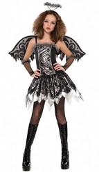 Nuorten langennut enkeli Halloween-asu