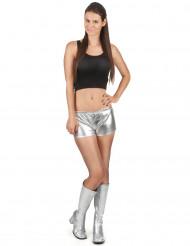 Hopeanhohtoiset shortsit naiselle
