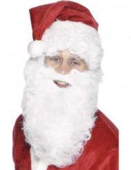 Joulupukin valkoinen parta 28 cm aikuiselle