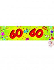 Värikäs banderolli 60-vuotisjuhliin