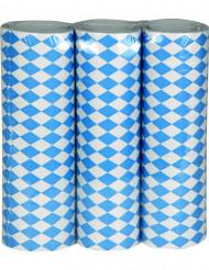 Sinivalkoinen Oktoberfest-serpentiini - 3 rullaa