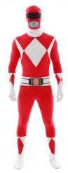 Aikuisten Morphsuits™ -naamiaisasu punainen Power Rangeri™