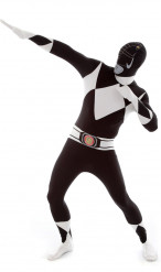 Aikuisten Morphsuits™-naamiaisasu musta Power Rangeri™