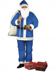 Aikuisten sininen joulupukki asu