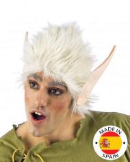Valkoinen peruukki peikon korvilla