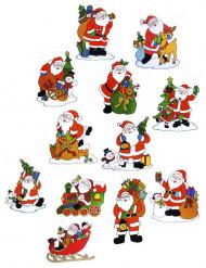 Joulupukkiaiheinen ikkunakoriste