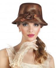 20-luvun ruskea hattu naiselle